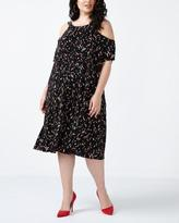 Penningtons ONLINE ONLY - Cold Shoulder Printed Dress