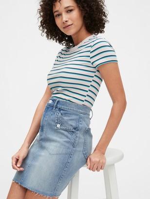 Gap Fold Over Pocket Denim Skirt