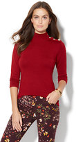 New York & Co. Button-Accent Turtleneck Sweater