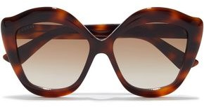 Gucci Oversized Butterfly-frame Tortoiseshell Acetate Sunglasses