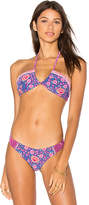 Spell & The Gypsy Collective Flamingo Blossom Bandeau in Pink. - size L (also in M,S)