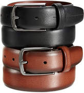 Perry Ellis Men's Leather Park Avenue Big and Tall Belt