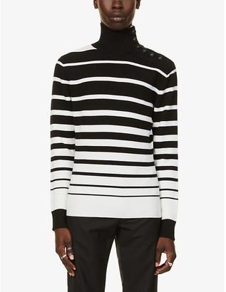 Paco Rabanne Striped virgin wool jumper