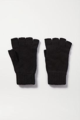 Johnstons of Elgin Cashmere Fingerless Gloves - Black