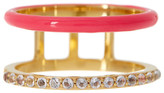 Elizabeth and James 24K Gold Plated White Topaz Dylan Band Ring