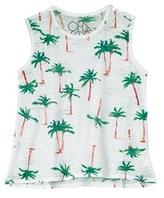 Chaser Girls' Flouncy Palm Tree Breeze Tank.