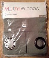 Martha Stewart Martha Window Capri Twill Restoration Green 50x84 Grommet Panel