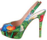 Gianvito Rossi Floral Platform Sandals