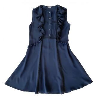 Miu Miu Navy Silk Dresses