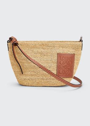 Loewe x Paula's Ibiza Pochette Medium Raffia Crossbody Bag