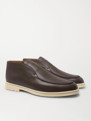 Loro Piana Open Walk Leather Boots