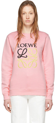 Loewe Pink Embroidered Anagram Sweatshirt