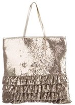 RED Valentino Ruffled Sequin Tote