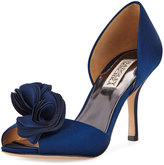 Badgley Mischka Thora Satin Rosette d'Orsay Pump, Navy