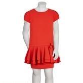 Gucci Girls Orange Stretch Viscose Ruffle Dress