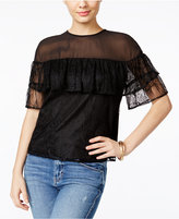GUESS Rudy Flounced Lace Top