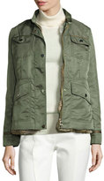Tory Burch 3-in-1 Convertible Jacket w/ Removable Rabbit Fur Vest