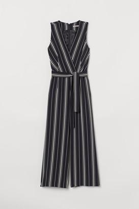 H&M Tie-belt Jumpsuit - Black