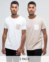 Brave Soul 2 Pack Chest Pocket T-shirt