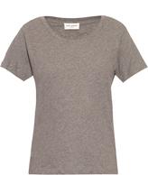 Saint Laurent Distressed cotton-jersey T-shirt