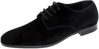 Burberry Black Velvet Menning Derby Size 45