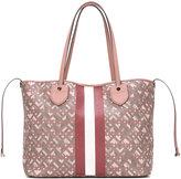 Bally stripe detail tote bag - women - Cotton/Polyurethane - One Size