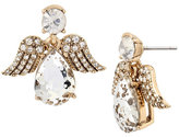 Betsey Johnson Angels And Wings Angel Stud Earring