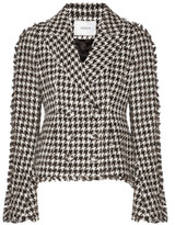 Erdem Marsha Metallic Cotton-blend Tweed Jacket - Black