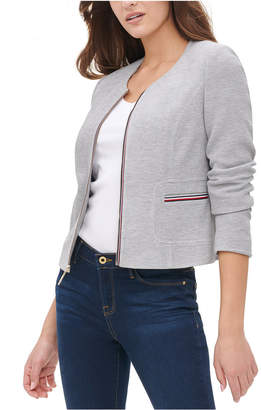 Tommy Hilfiger Collarless Zip-Front Jacket