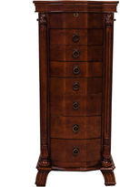 Asstd National Brand Hives & Honey Nicole Antique Walnut Locakble Jewelry Armoire