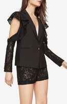 BCBGMAXAZRIA Abel Cold-Shoulder Lace Blazer