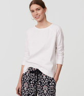 LOFT Petite Textured Sweatshirt