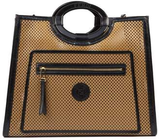Fendi Beige And Brown Leather Runaway Tote Bag