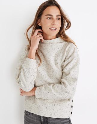 Madewell Donegal Mockneck Side-Button Sweatshirt