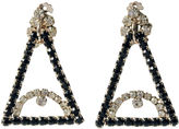 One Kings Lane Vintage Evil Eye Rhinestone Earrings