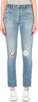 RE/DONE Patch-detail straight high-rise jeans