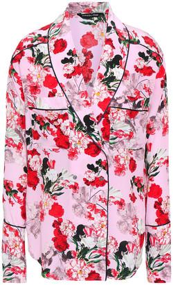 Marissa Webb Floral-print Silk-crepe Blouse
