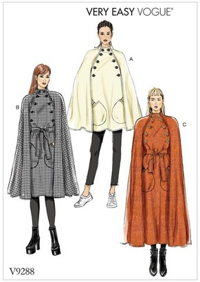 Vogue Women's Capes Sewing Pattern, 9288