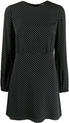 Theory Dotted Mini Dress