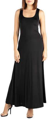 24/7 Comfort Apparel 24/7 Comfort Tank Maxi Dress-Maternity
