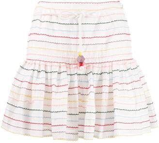 Zimmermann Zinnia scallop stripe skirt