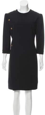 Alexander McQueen Long Sleeve Knee-Length Dress