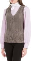 Max Studio Heathered Wool And Alpaca Sweater Vest