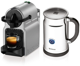 Nespresso Inissia Coffee and Espresso Maker and Aeroccino+ Deluxe Bundle