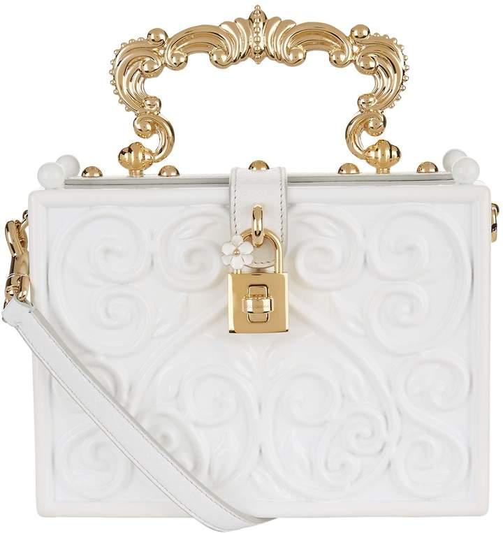 Dolce & Gabbana Baroque Padlock Top Handle Bag