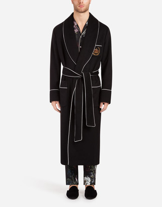Dolce & Gabbana Cashmere Coat With Patch