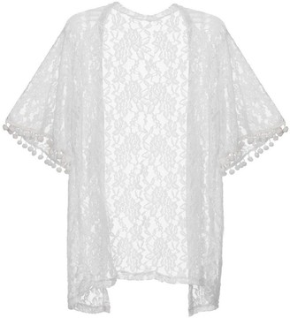 Clode Beach Cover Up Fashion Womens Summer Open Cape Casual Coat Lace Kimono Beach Cover Up (M