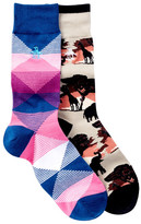 Original Penguin Assorted 2 Pack Socks