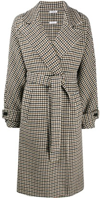 P.A.R.O.S.H. Checked Belted Coat