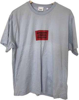 Burberry Blue Cotton T-shirts